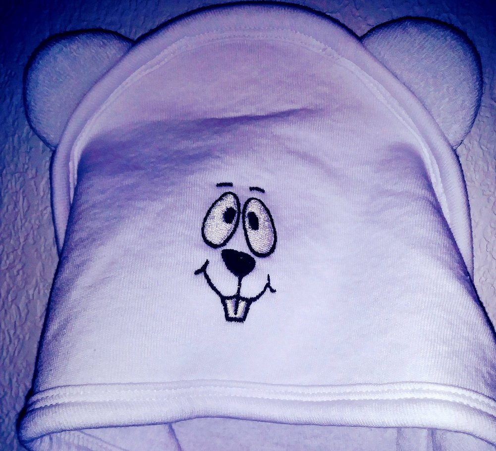 Ghog Face Baby Bath Towel Image a
