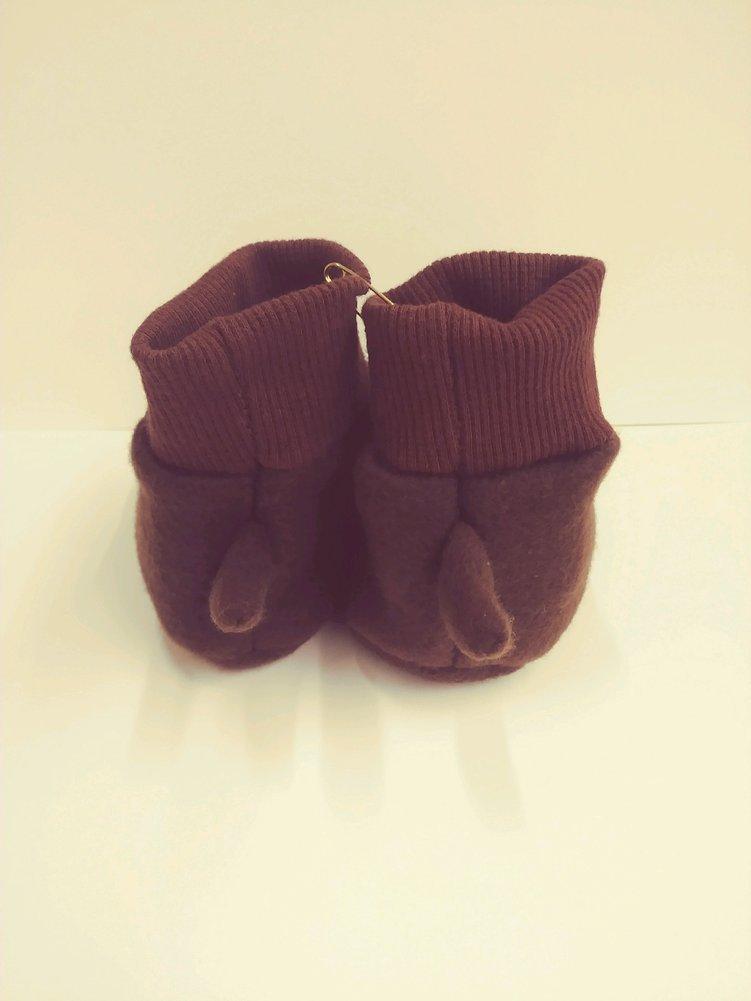 Groundhog Baby Booties Image a