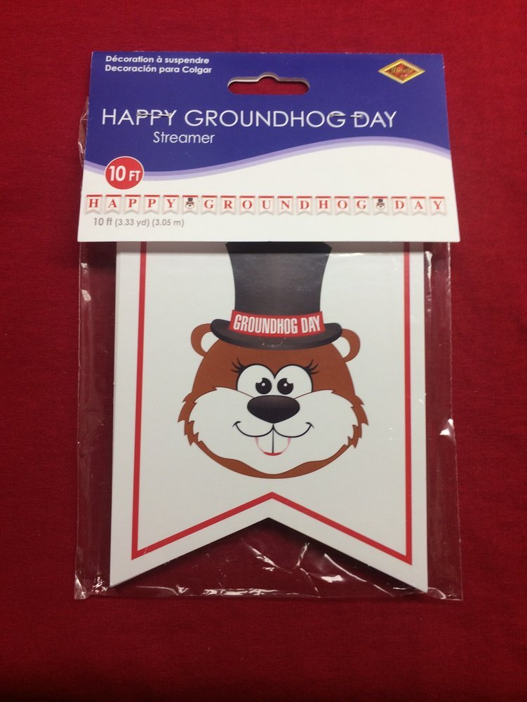 Happy Groundhog Day Streamer Image a