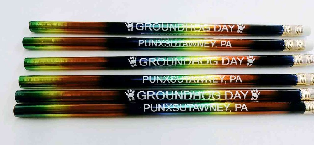 Rainbow Foil Ghog Day Pencil Image a