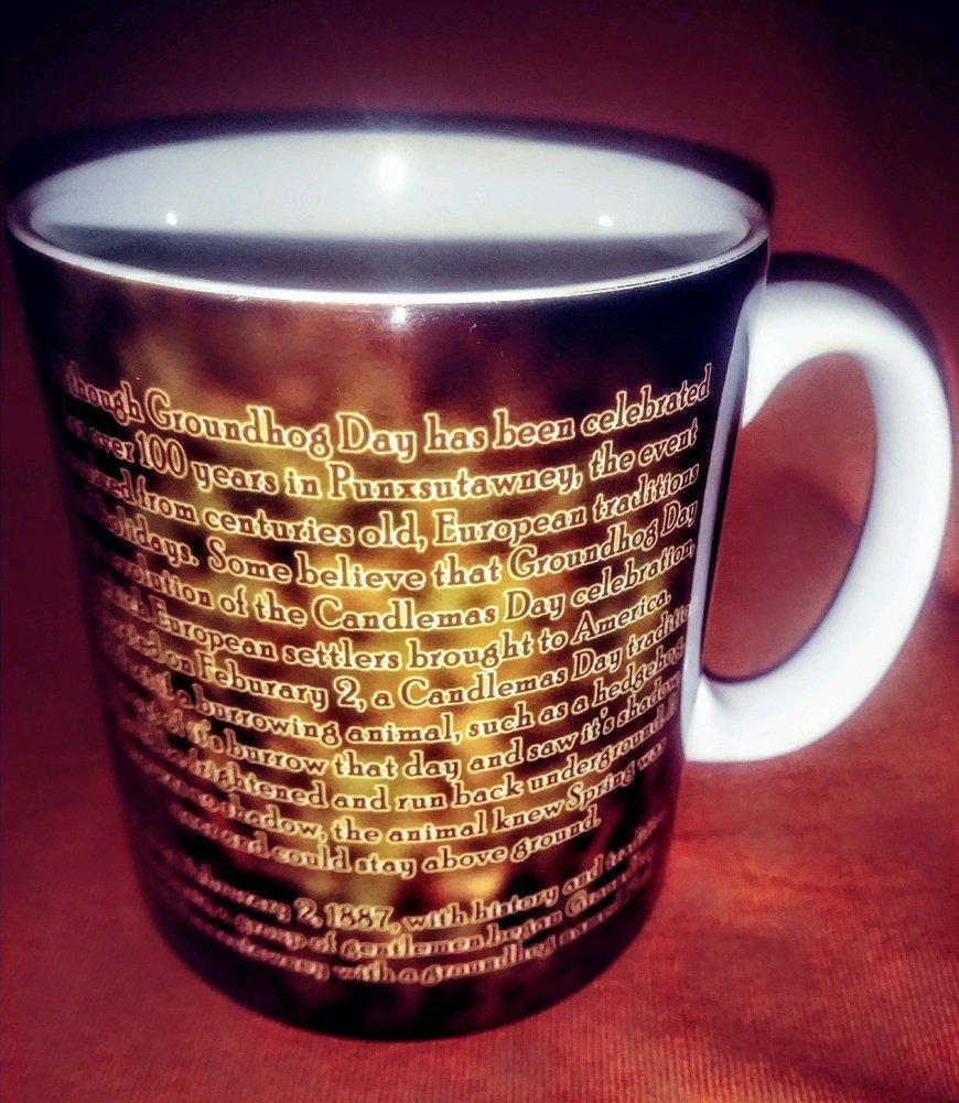 Sublimated Groundhog History Mug Image a