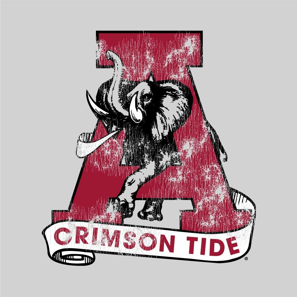 Alabama Crimson Tide Women's Slub Football TShirt Image a