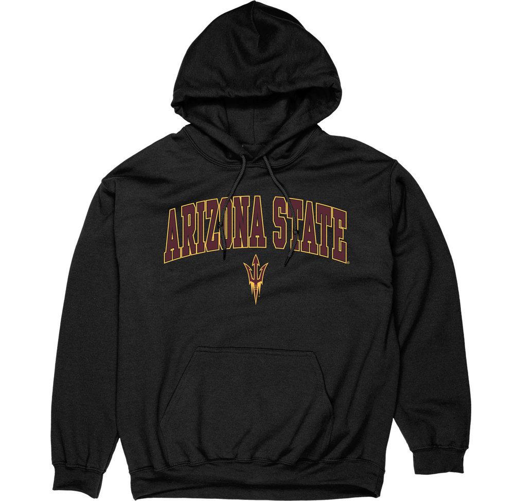 Arizona State Sun Devils Hooded Sweatshirt Varsity Black Image a