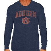 Auburn Tigers Vintage Long Sleeve Tshirt Navy Victory  Image a
