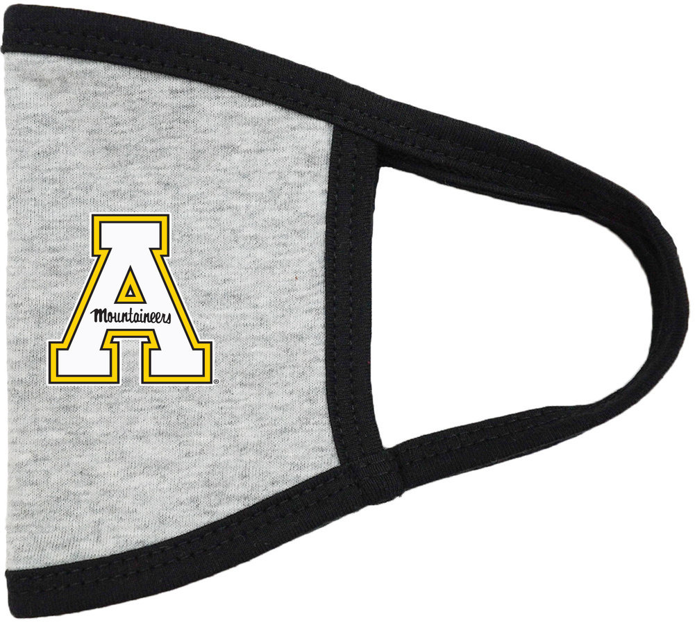 Appalachian State Mountaineers Face Covering Gray Image a