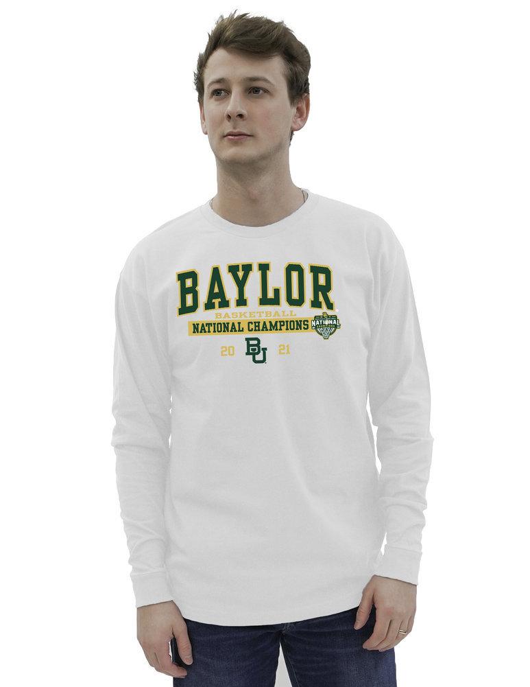 Baylor Bears National Basketball Championship Long Sleeve T-Shirt 2021 Bold Image a