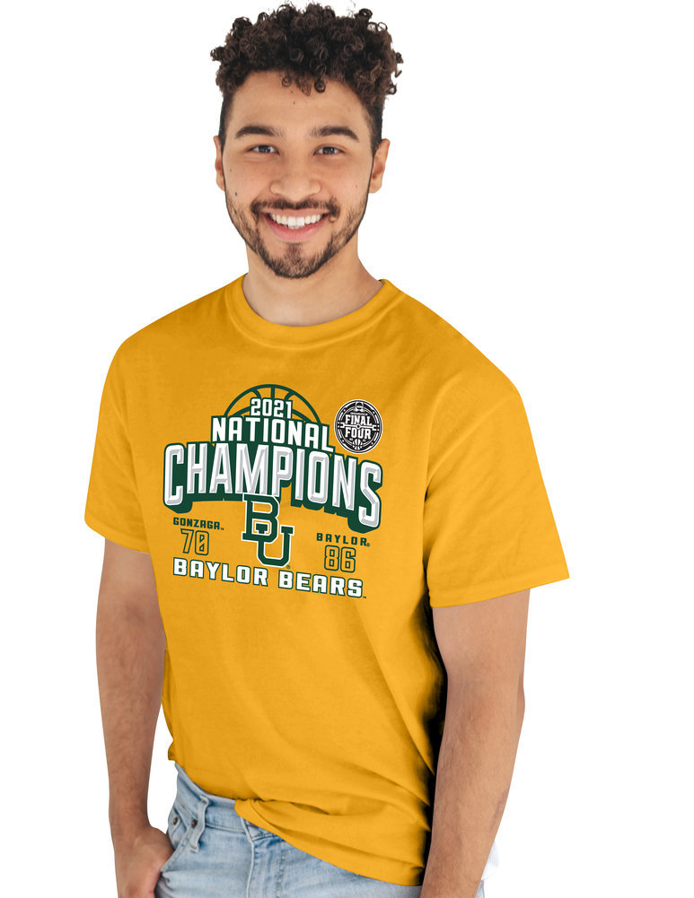 Baylor Bears National Basketball Championship T-Shirt 2021 Ball Image a