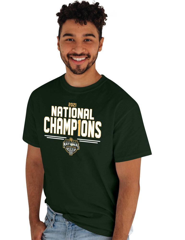 Baylor Bears National Basketball Championship T-Shirt 2021 Number 1 Image a