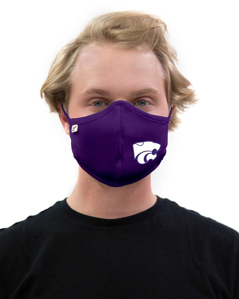 Kansas State Wildcats Face Covering Purple Image a