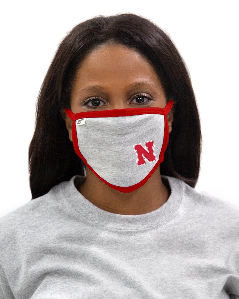 Nebraska Cornhuskers Face Covering 3 Pack Gray Image a