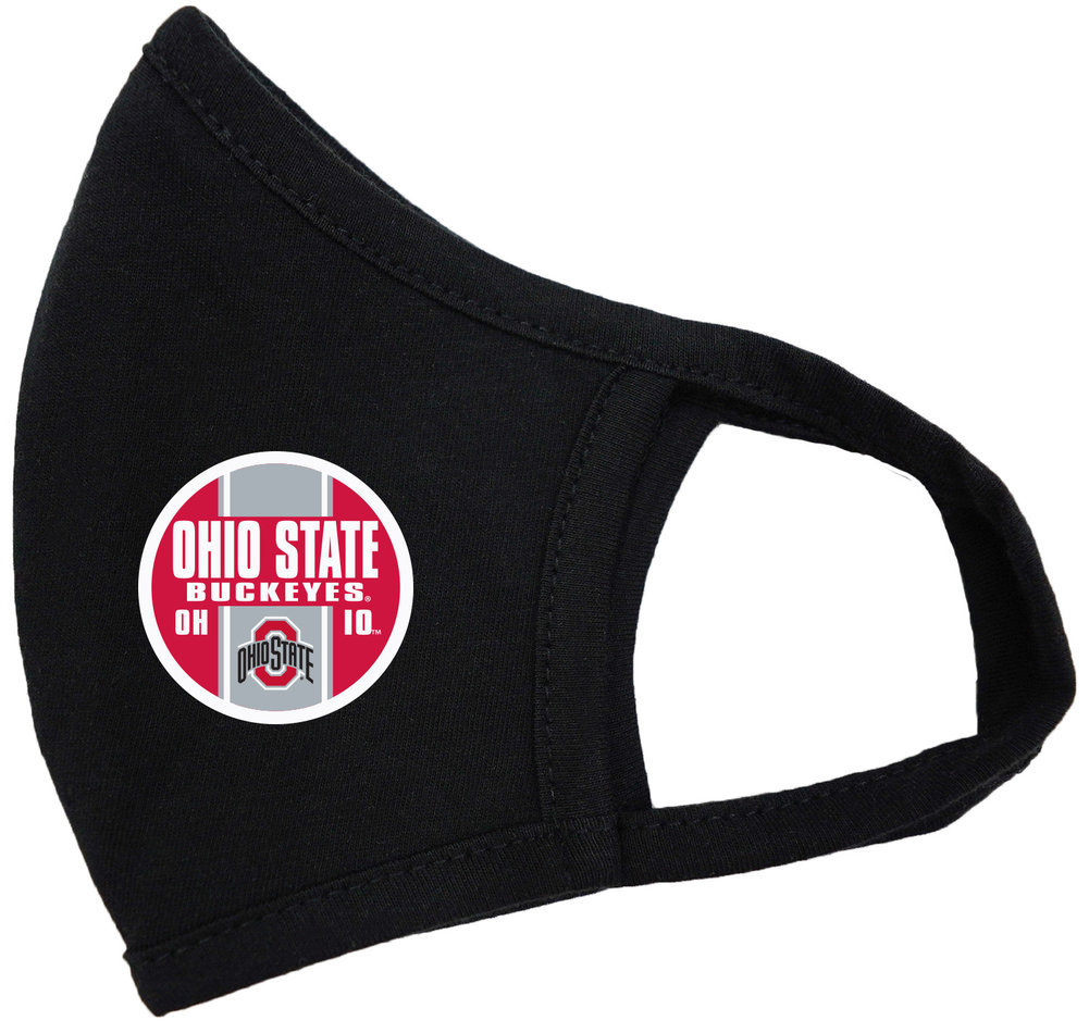 Ohio State Buckeyes Face Covering Black Image a