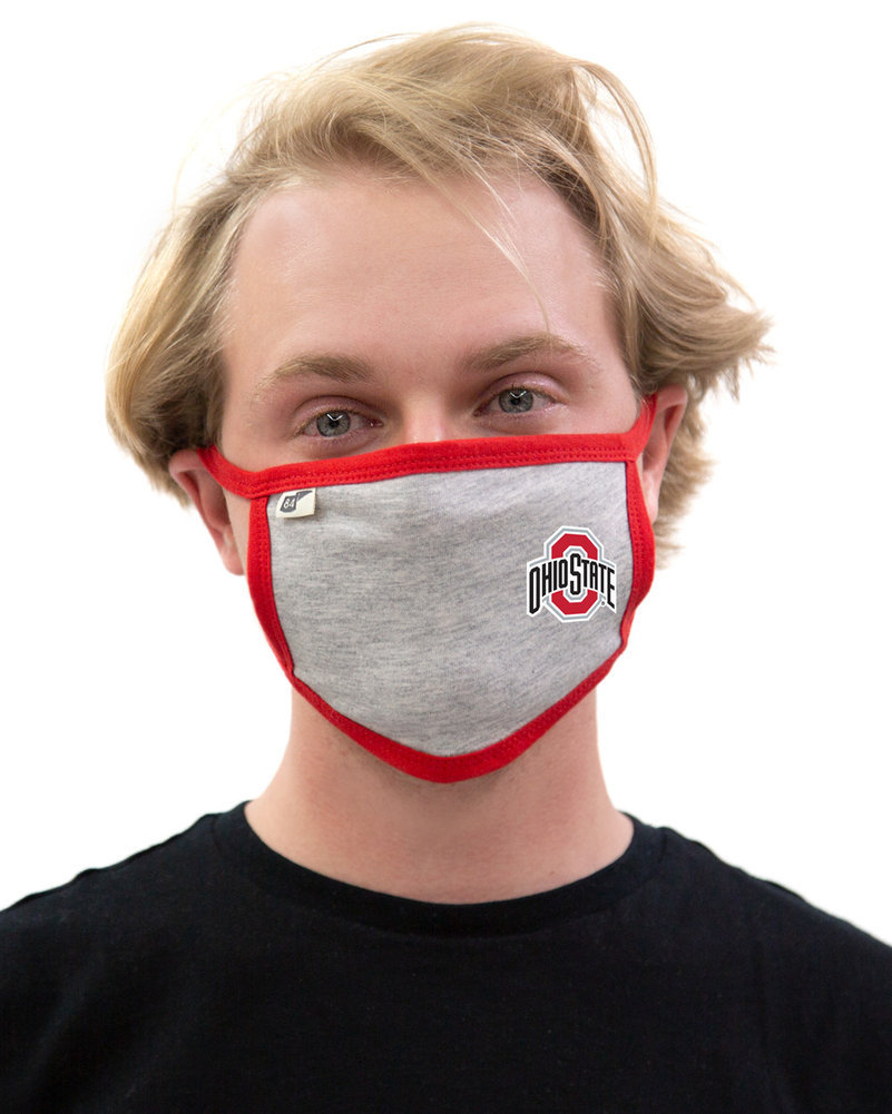 Ohio State Buckeyes Face Covering Gray Image a