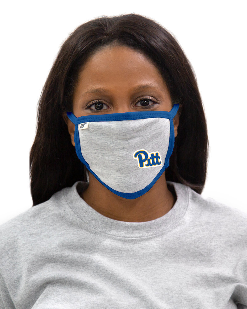 Pitt Panthers Face Covering Gray Image a