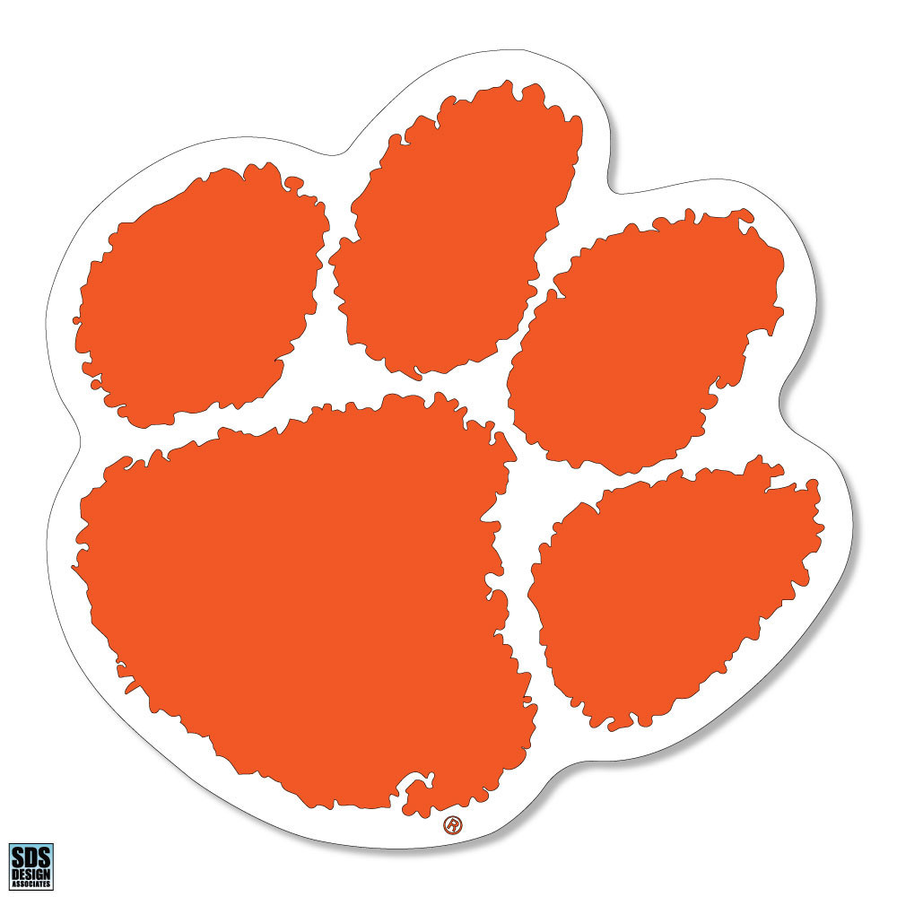 """Clemson Tigers 6"""" Vinyl Decal 3-Pack Image a"""
