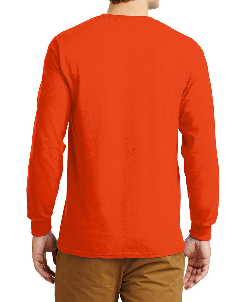 Clemson Tigers Long Sleeve TShirt Varsity Orange Arch Over Image a