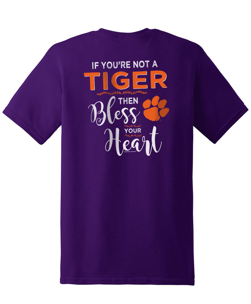 Clemson Tigers Tshirt Bless Your Heart Image a