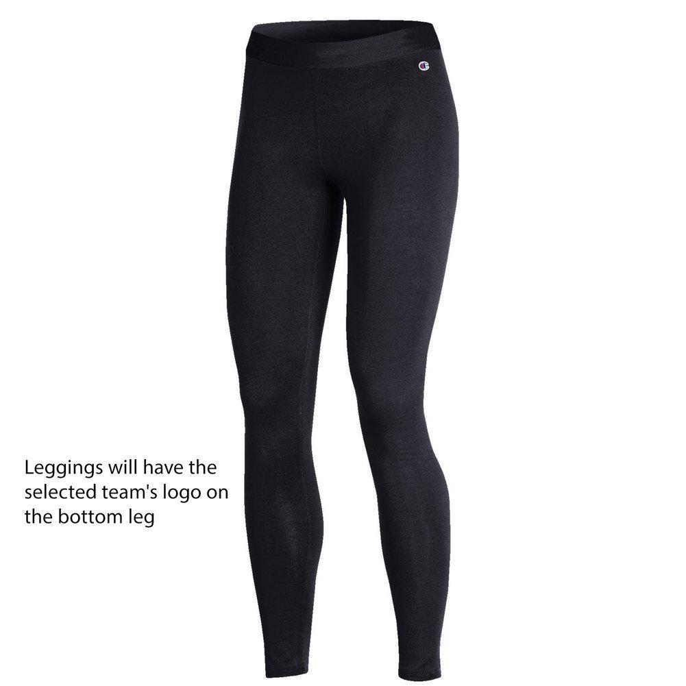 Clemson Tigers Womens Leggings Black Image a