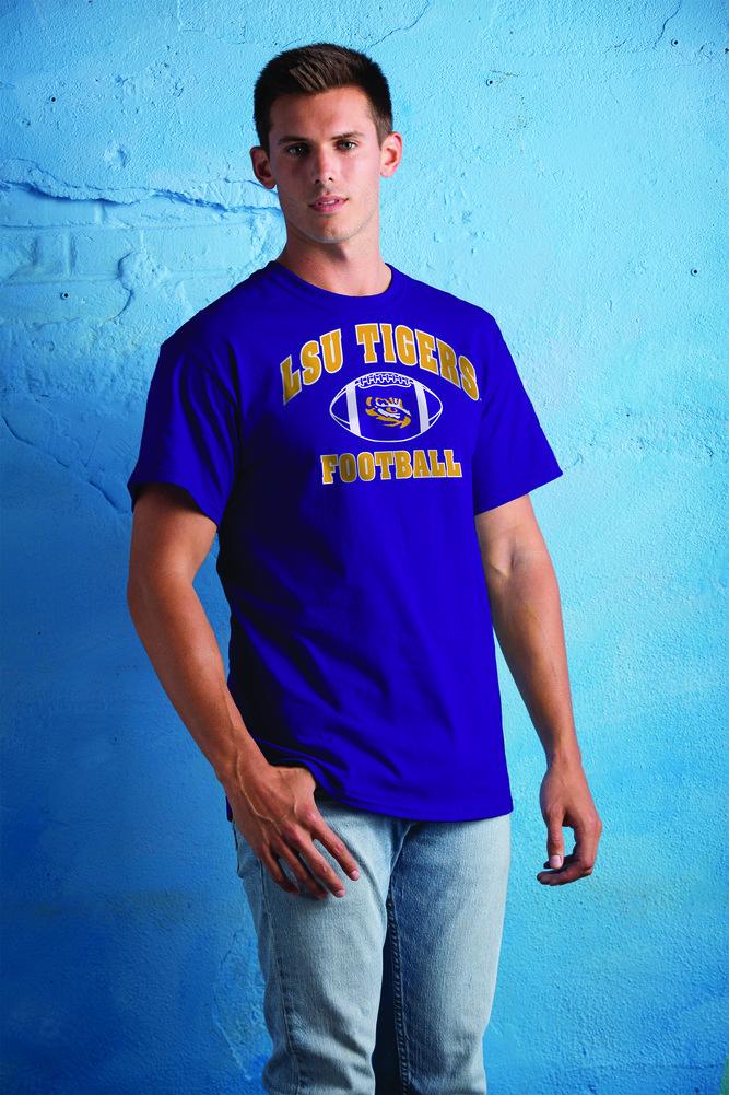 LSU Tigers TShirt Football Arch Purple Image a