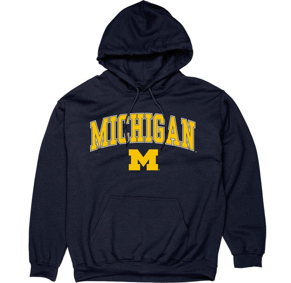 Michigan Wolverines Hoodie Sweatshirt Varsity Navy Image a