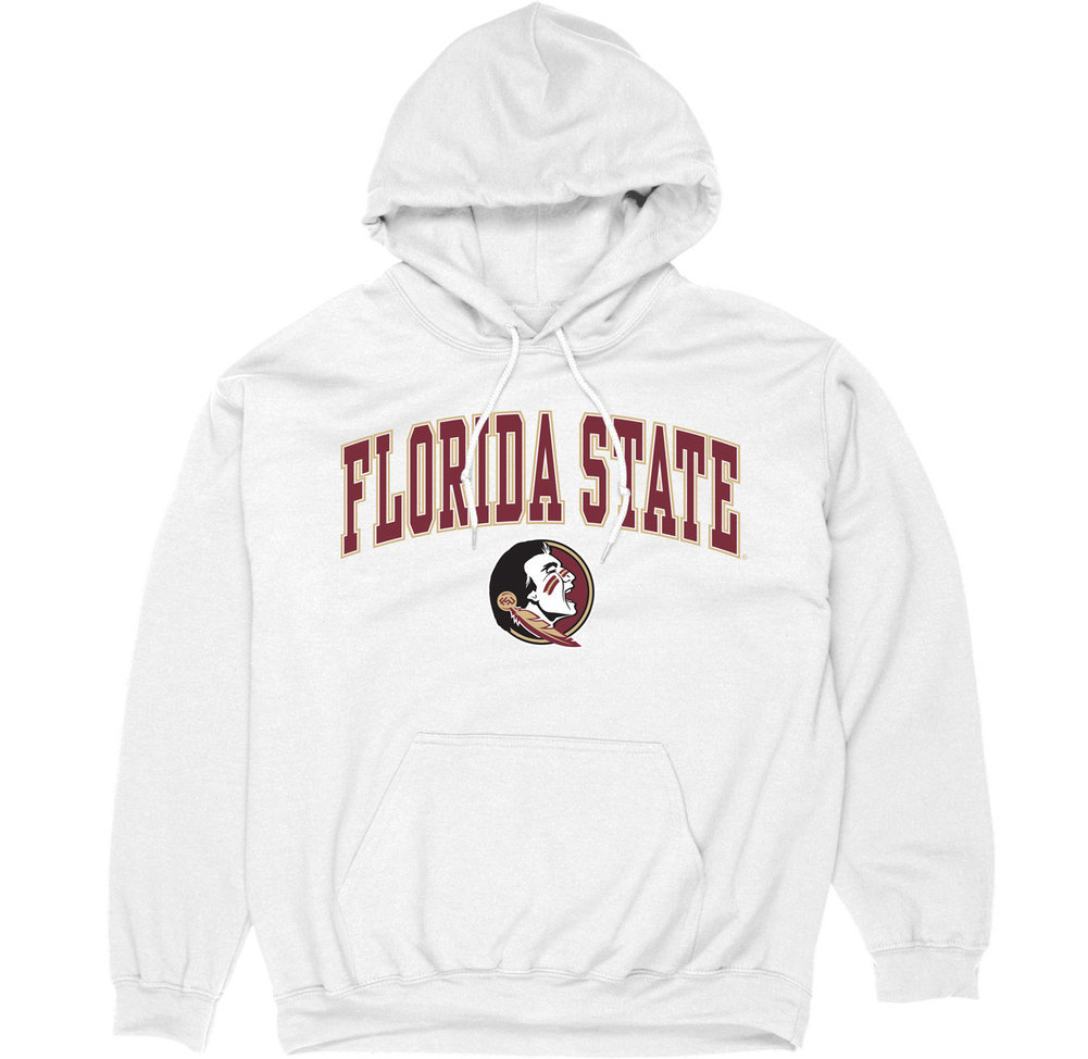 Florida State Seminoles Hooded Sweatshirt Varsity White Arch Over Image a