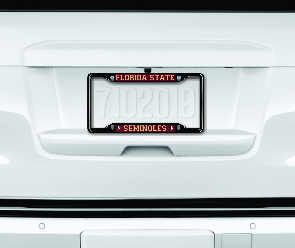 Florida State Seminoles License Plate Frame Black Image a