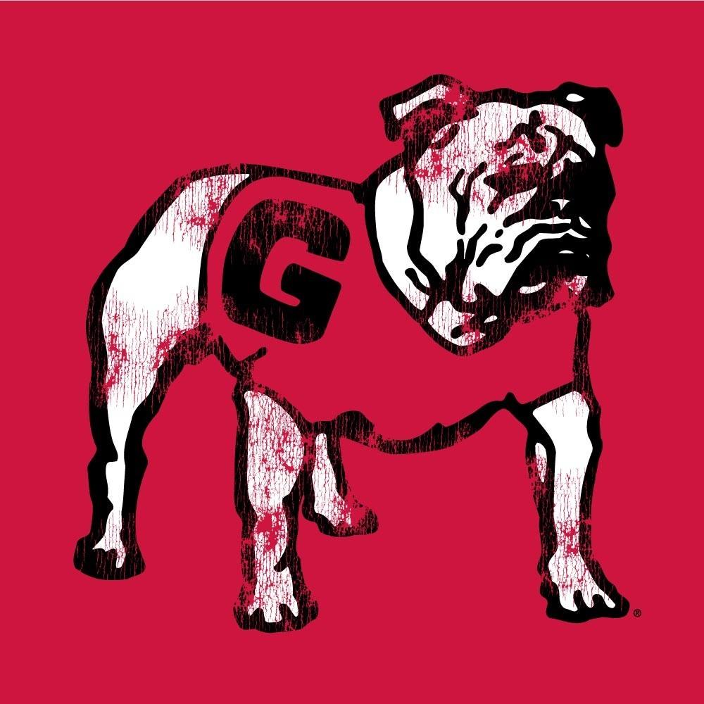 Georgia Bulldogs Women's Slub Football TShirt Image a
