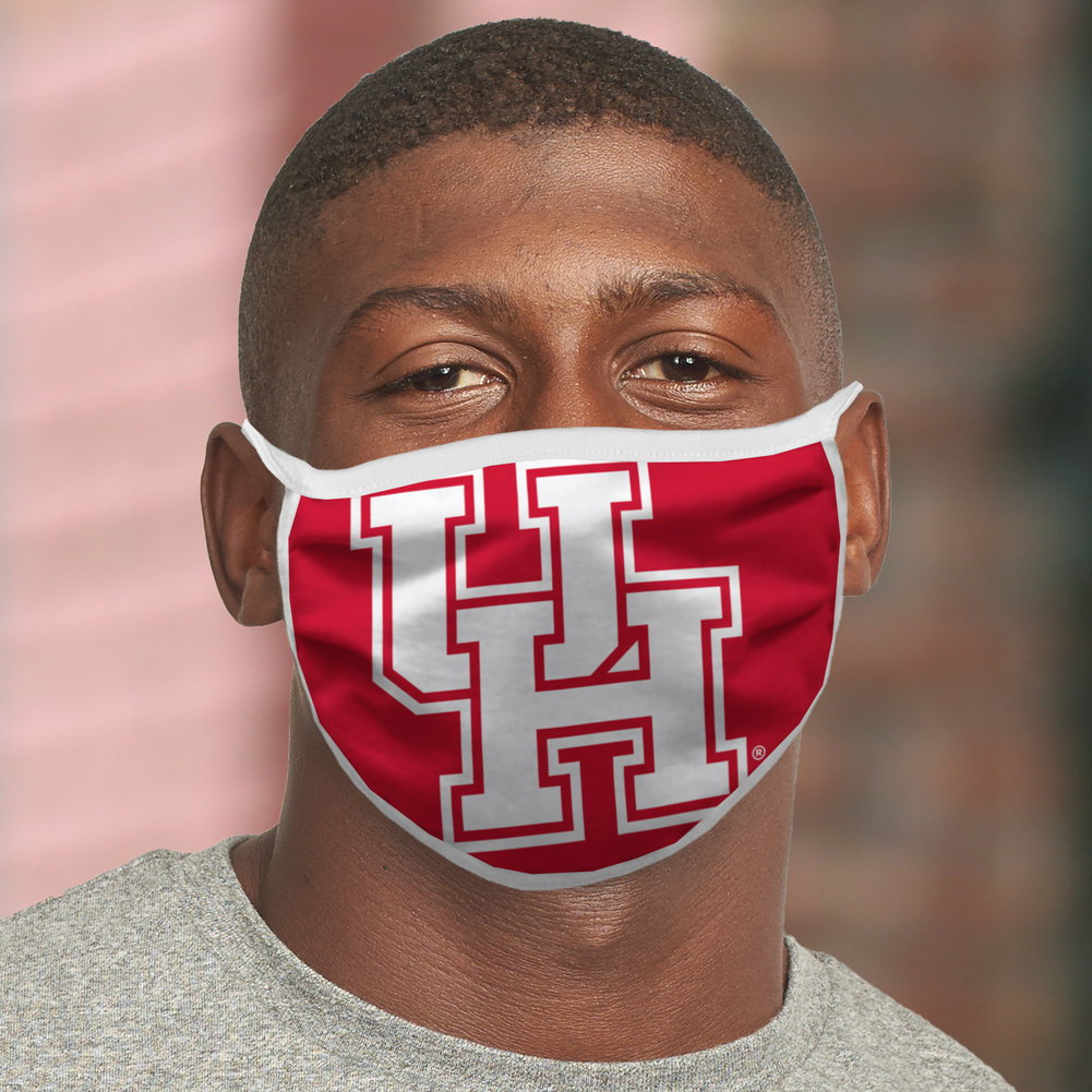 Houston Cougars Retro Face Covering 3-Pack Image a