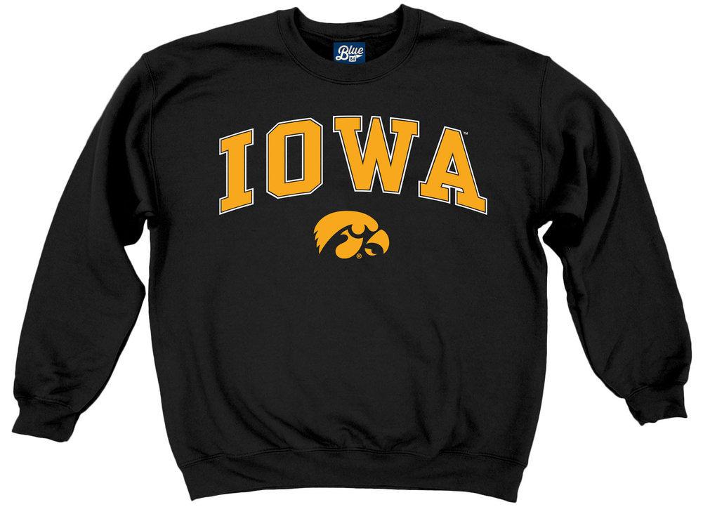 Iowa Hawkeyes Crewneck Sweatshirt Varsity Black Arch Over Image a