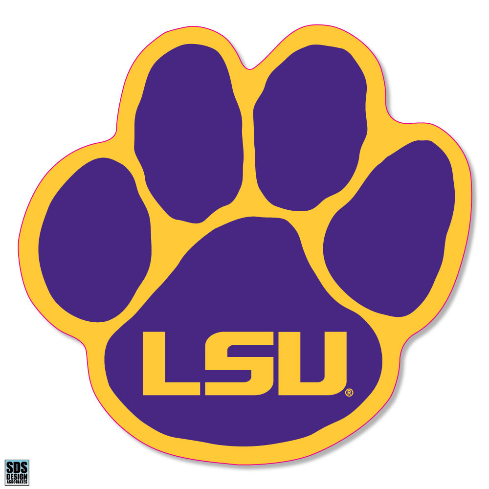 """LSU Tigers 3"""" Vinyl Decal 6-Pack Image a"""