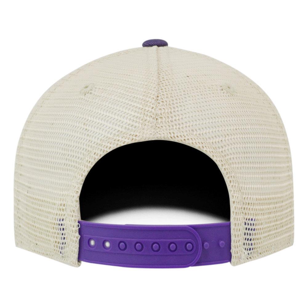 LSU Tigers National Champs Hat 2019 - 2020 Purple Vintage  Arch Image a