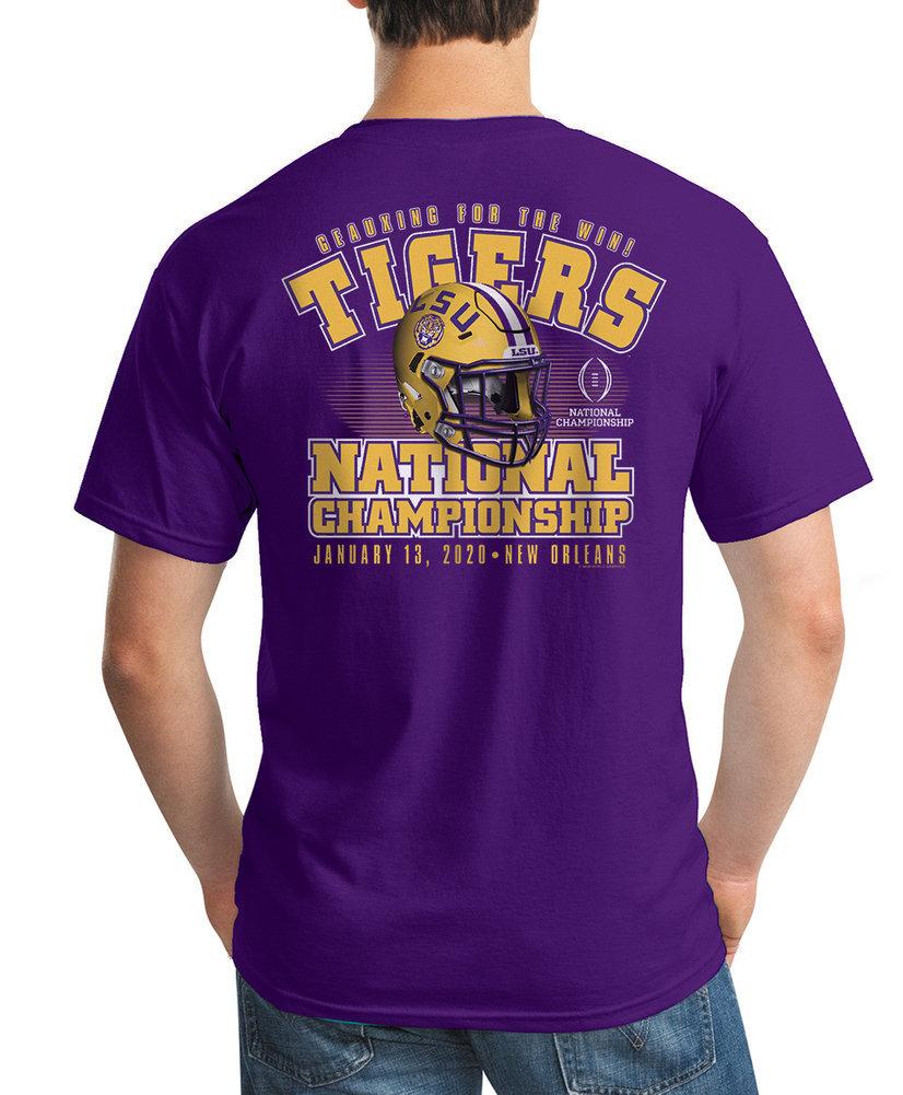 LSU Tigers National Champs Tshirt 2019-2020 Championship Bound Back Image a
