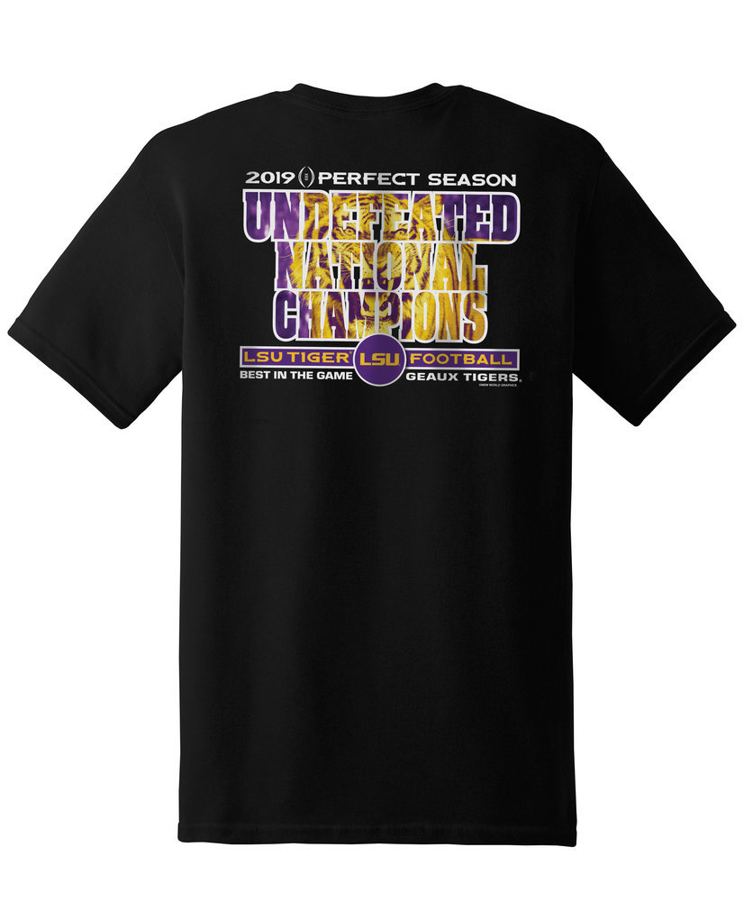 LSU Tigers National Championship Champs Tshirt 2019 - 2020 Special Black Image a