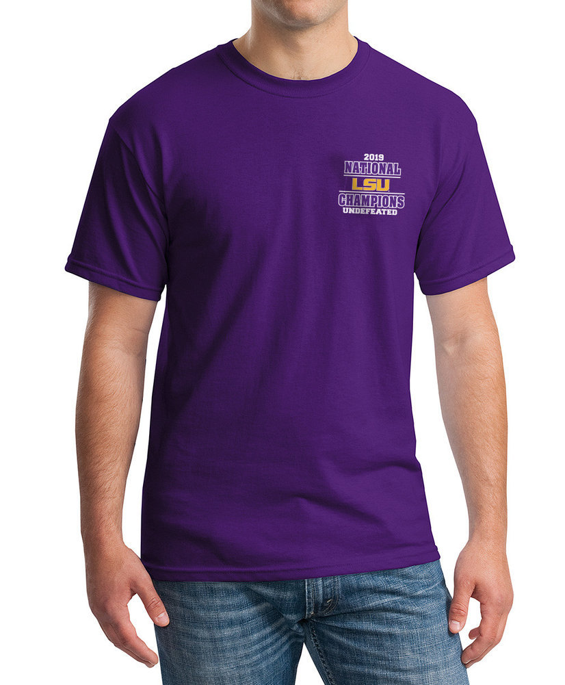 LSU Tigers National Championship Champs Tshirt 2019 - 2020 Special Purple Image a