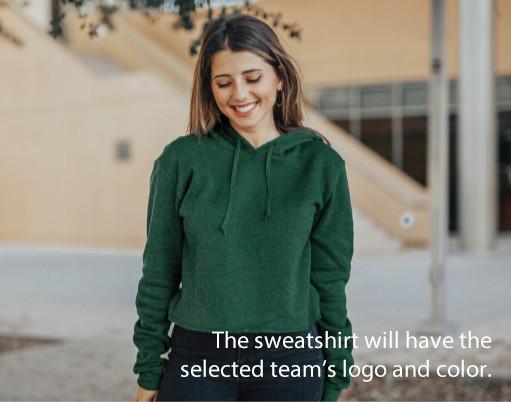 LSU Tigers National Championship Champs Womens Crop Hoodie Sweatshirt 2019 - 2020 Image a