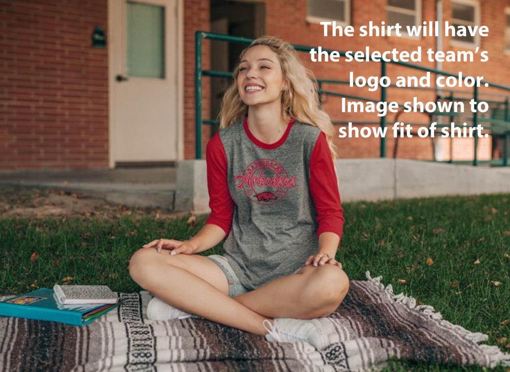 LSU Tigers Womens 3/4th Sleeve Tshirt  Image a