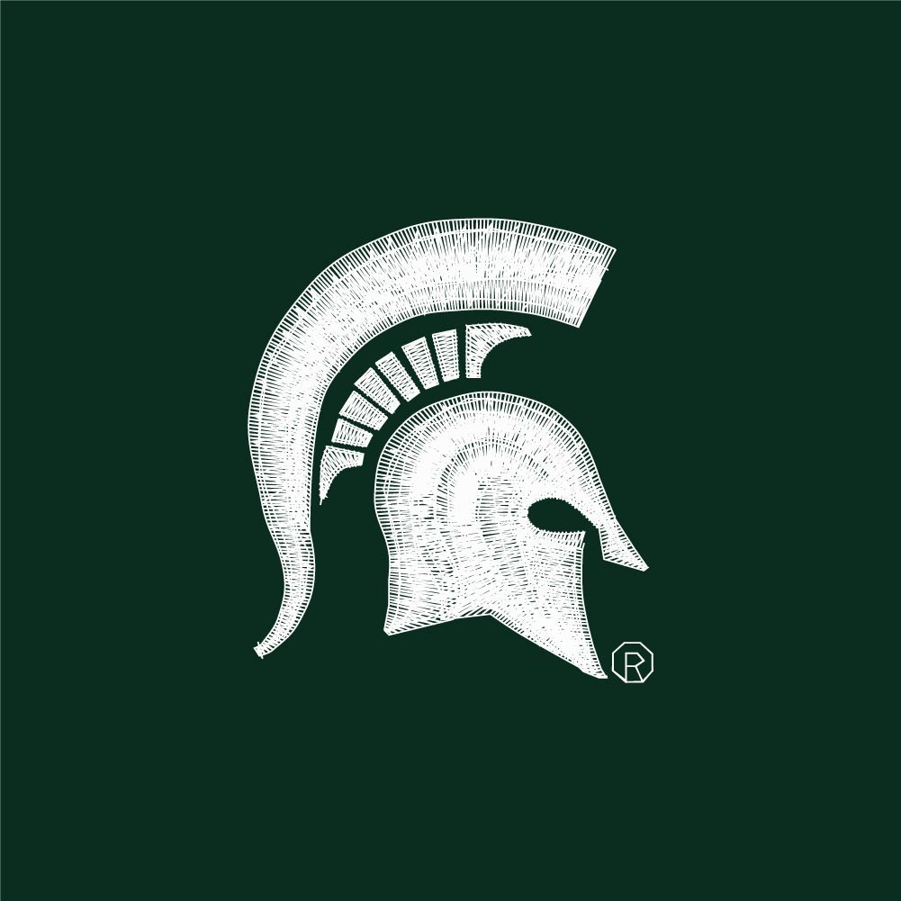 Michigan State Spartans Polo Shirt Green Image a