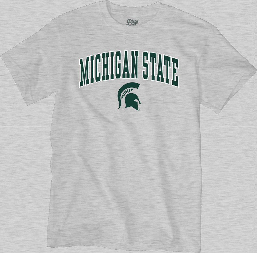 Michigan State Spartans TShirt Varsity Gray Arch Over Image a