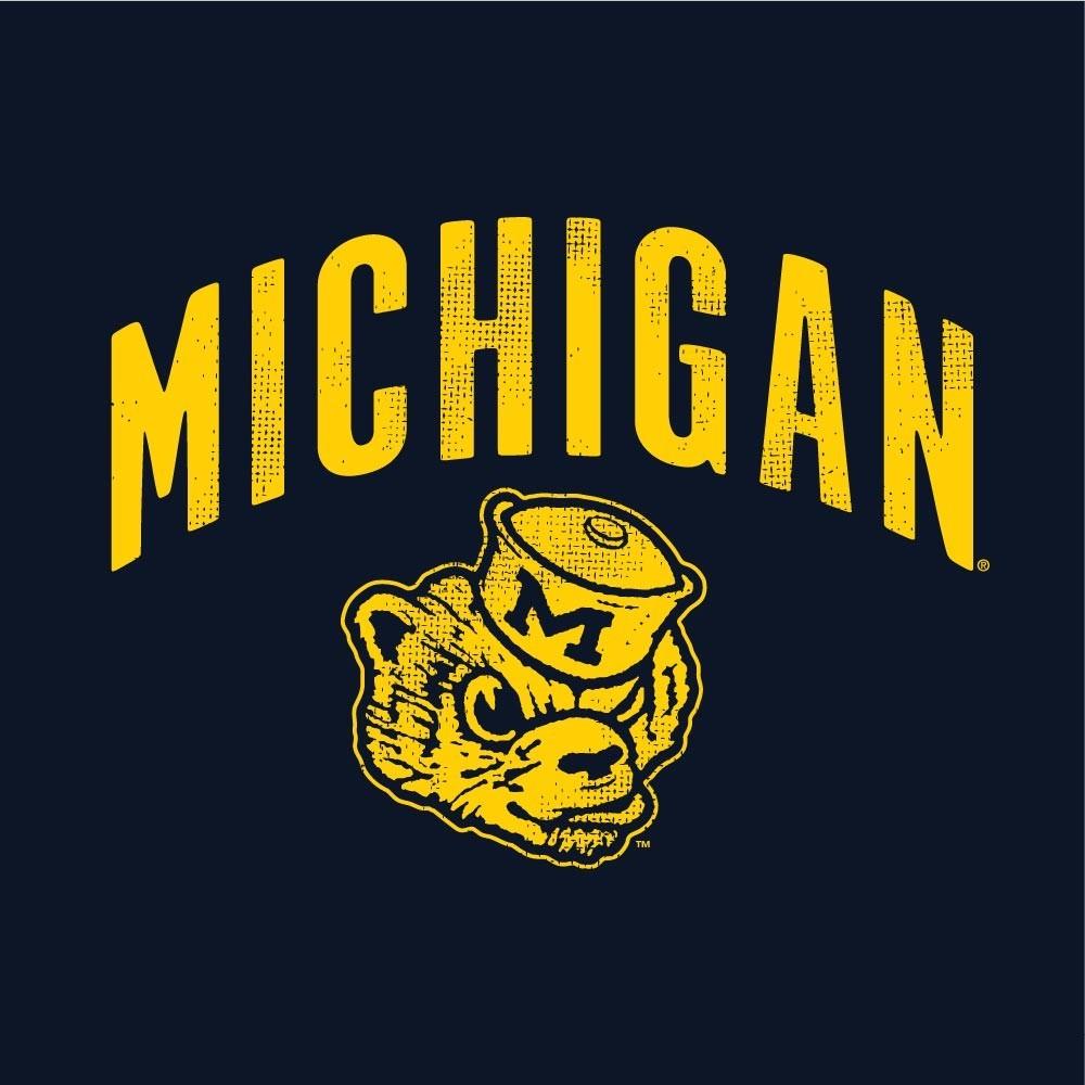 Michigan Wolverines Women's Slub Football TShirt Image a