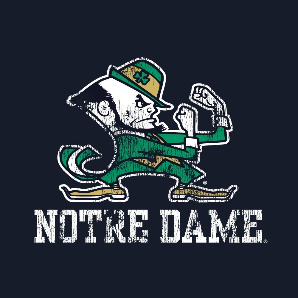 Notre Dame Fighting Irish Women's Vintage Slub Ringer Tank Top  Image a