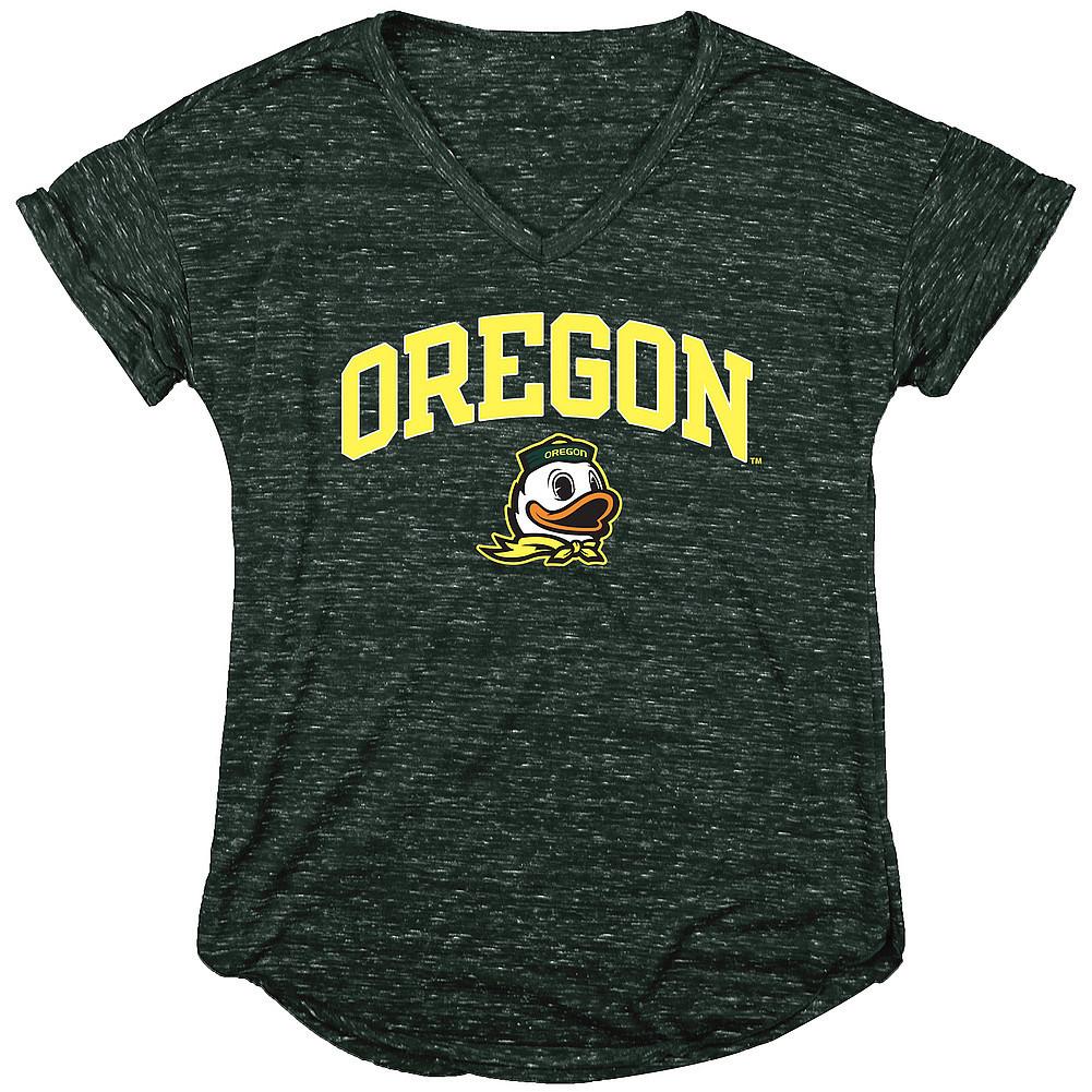 Oregon Ducks Womens Vneck TShirt Green Image a