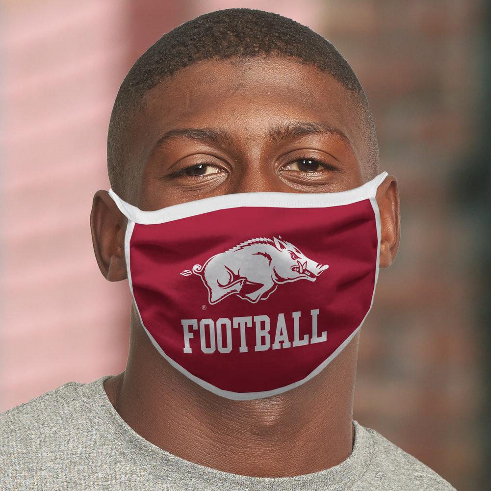 Arkansas Razorbacks Retro Face Covering 3-Pack Football Image a