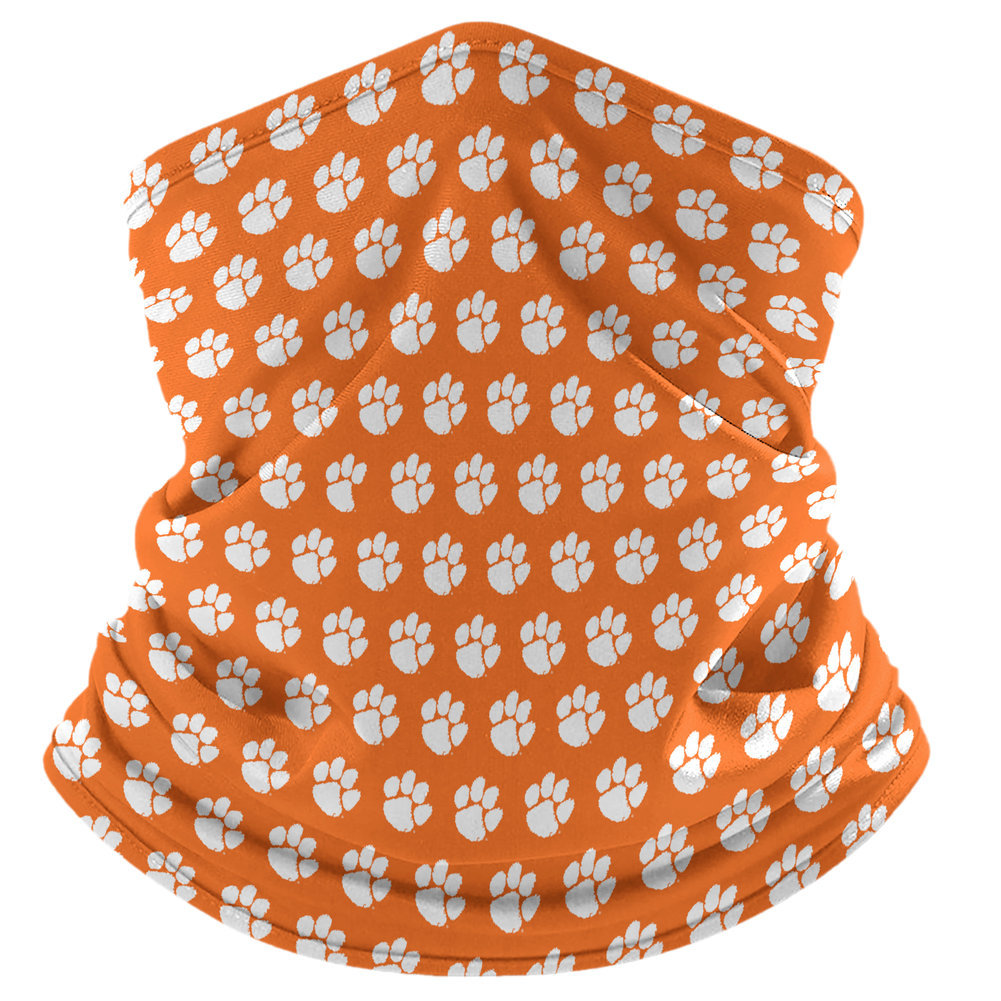 Clemson Tigers Retro Face Covering Gaiters 2-Pack Image a