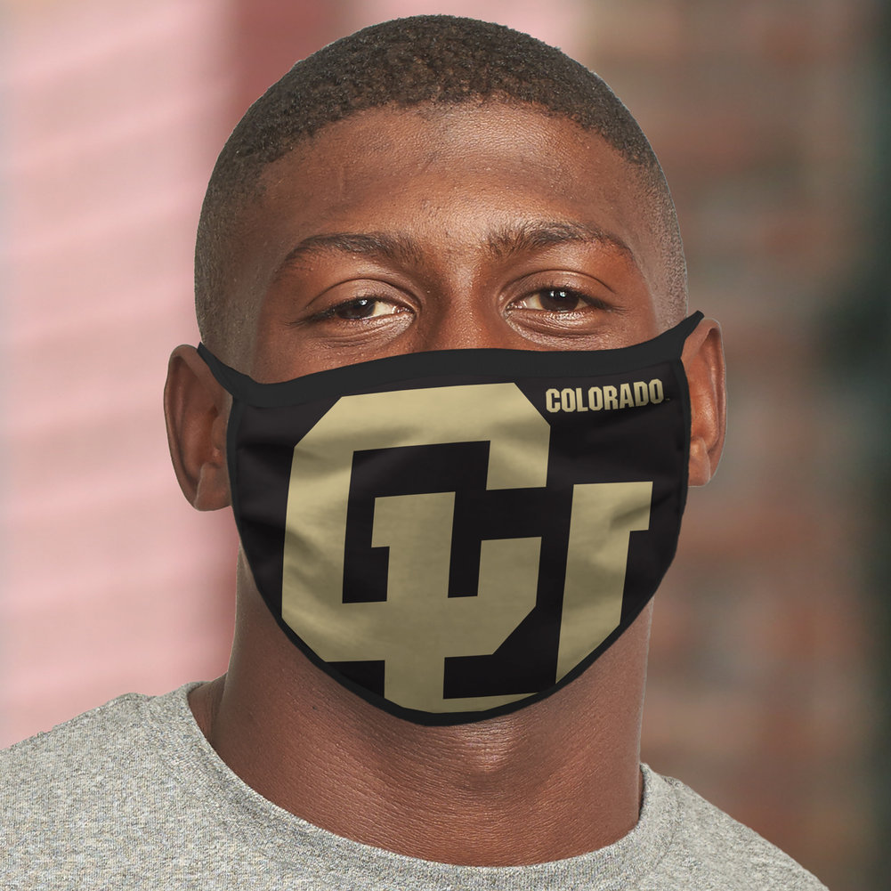 Colorado Buffaloes Retro Face Covering 3-Pack Image a