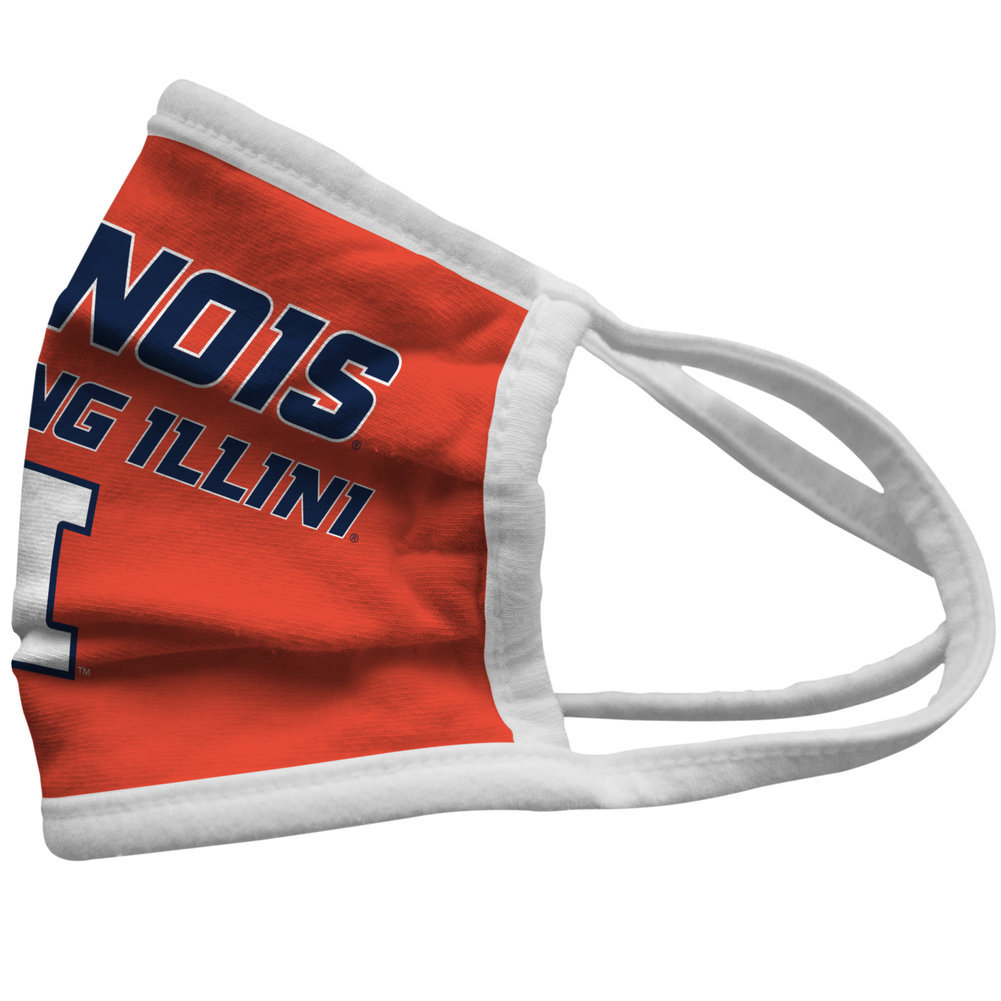 Illinois Fighting Illini Retro Face Covering 3-Pack  Image a