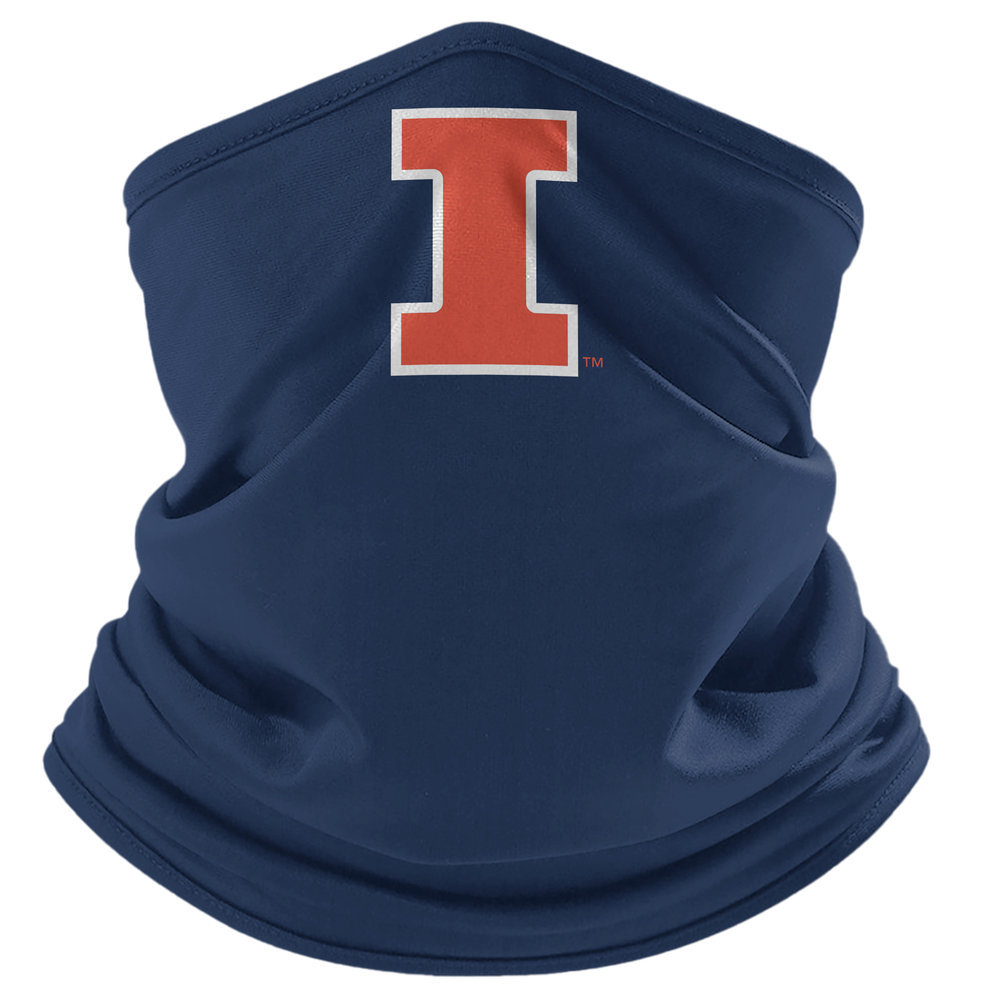 Illinois Fighting Illini Retro Face Covering Gaiters 2-Pack Image a