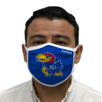 Kansas Jayhawks Retro Face Covering 3-Pack  Image a