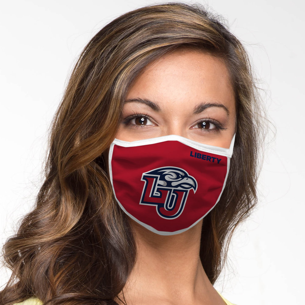 Liberty Flames Retro Face Covering 3-Pack  Image a