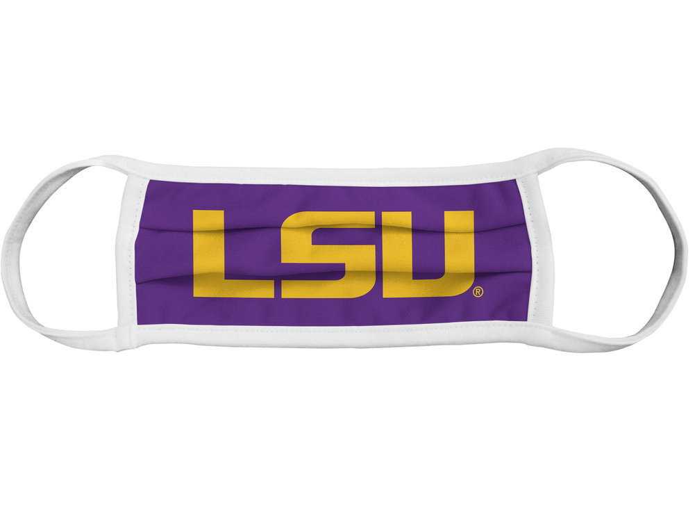 LSU Tigers Retro Face Covering 3-Pack Image a