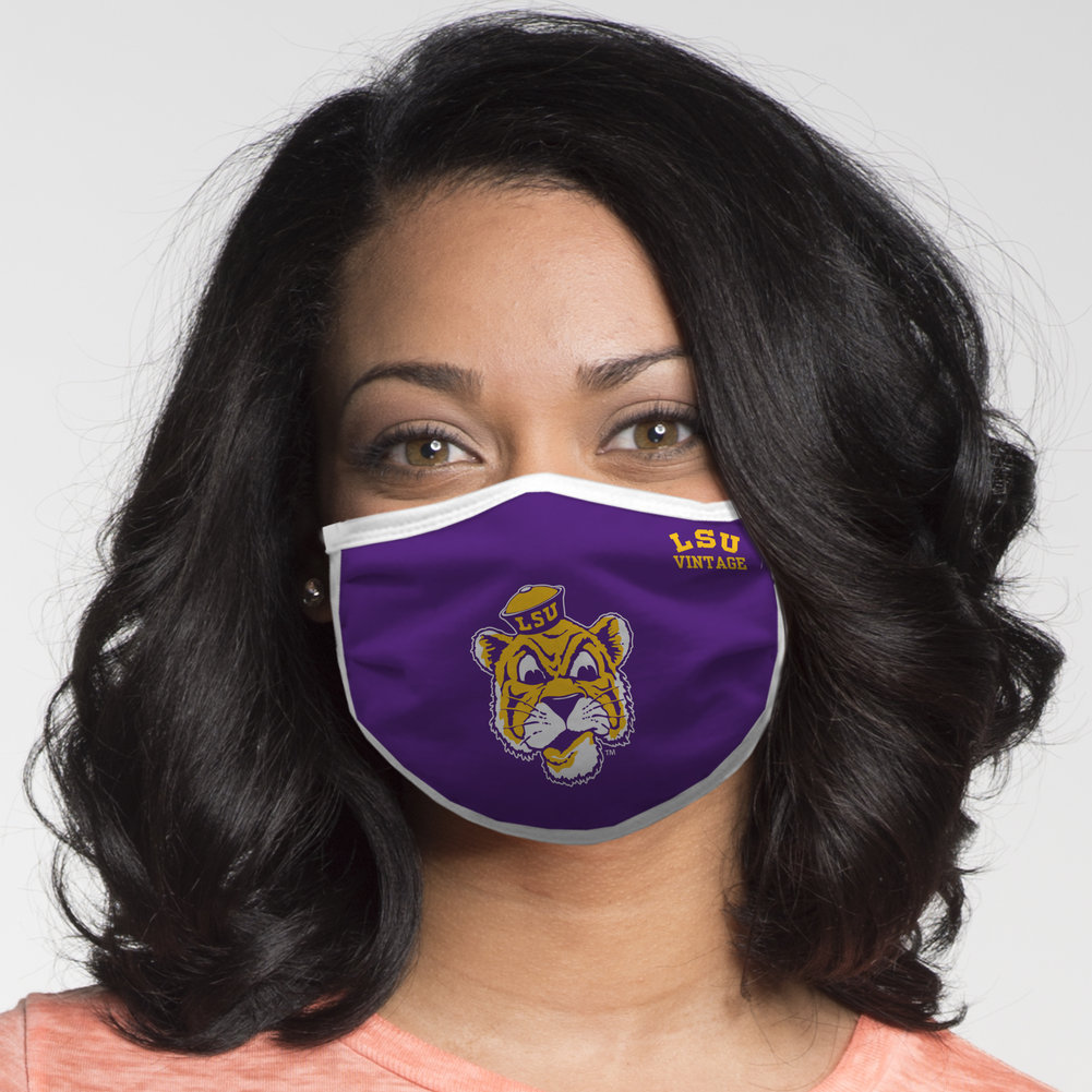 LSU Tigers Retro Face Covering Vault 2-Pack  Image a
