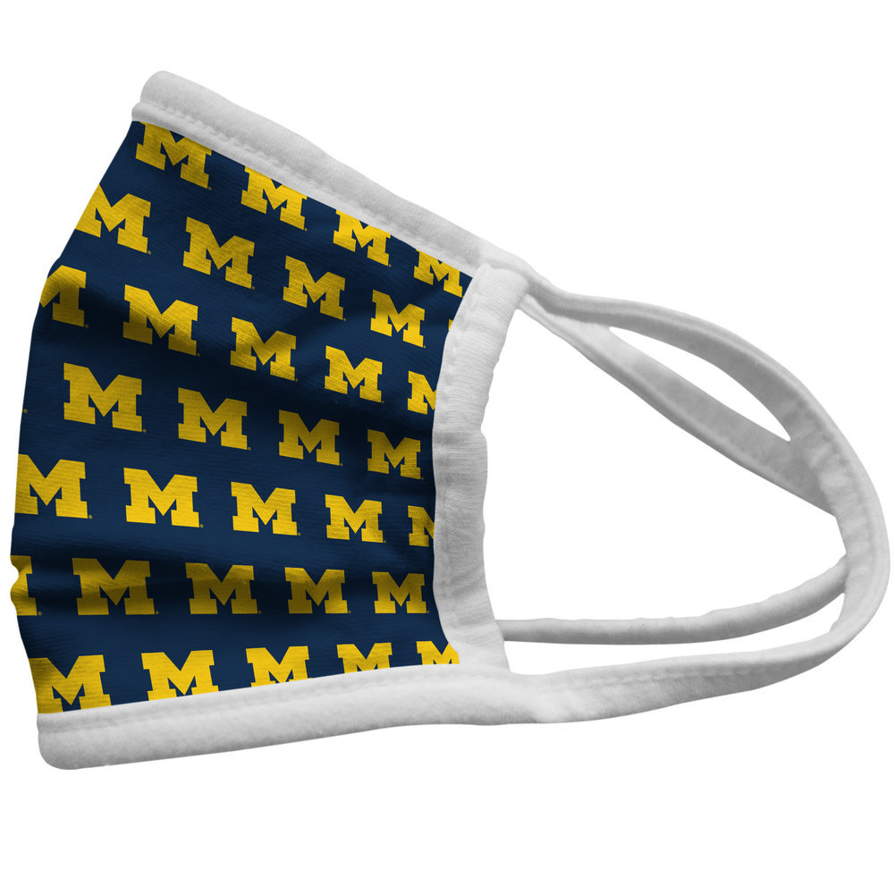 Michigan Wolverines Retro Face Covering 3-Pack  Image a